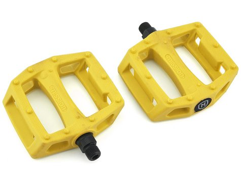 """Mission Impulse PC Pedals (Yellow) (9/16"""")"""