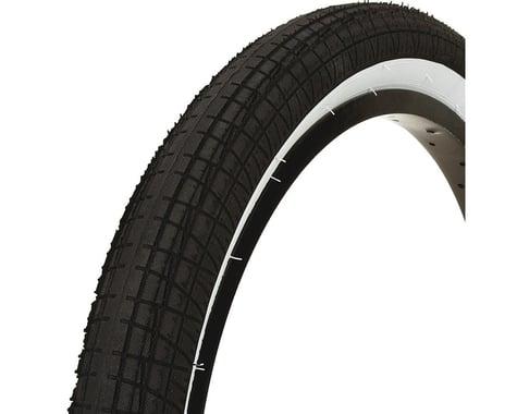 "Mission Fleet Tire (Black/White) (2.4"") (20"" / 406 ISO)"