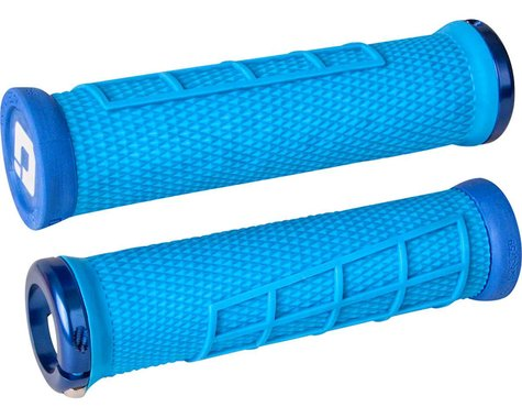 ODI Elite Flow Lock-On Grips (Light Blue/Blue)