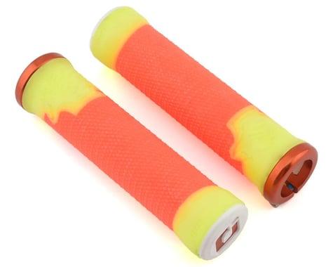 ODI AG-2 Lock-On Grips (Orange/Yellow) (135mm)