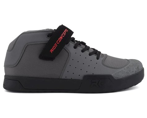 Ride Concepts Wildcat Flat Pedal Shoe (Charcoal/Red) (7)