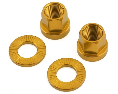 The Shadow Conspiracy Featherweight Alloy Axle Nuts (Gold) (14mm)