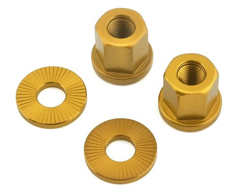 """The Shadow Conspiracy Featherweight Alloy Axle Nuts (Gold) (3/8"""")"""