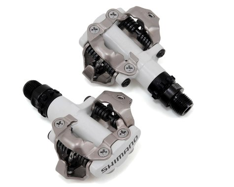 Shimano PD-M520 SPD Mountain Pedals w/ Cleats (White)