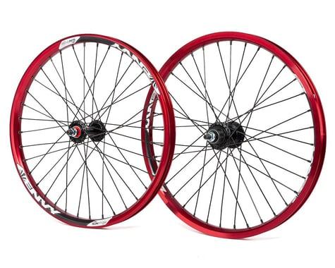 Sun Ringle Sun Envy Cassette Wheel Set (Red) (20 x 1.75)