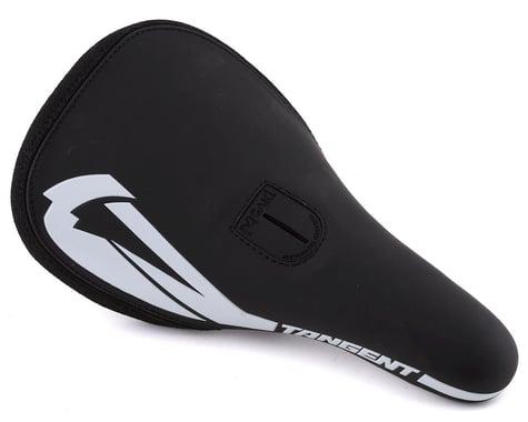Tangent Carve Pivotal BMX Saddle (Black/White)