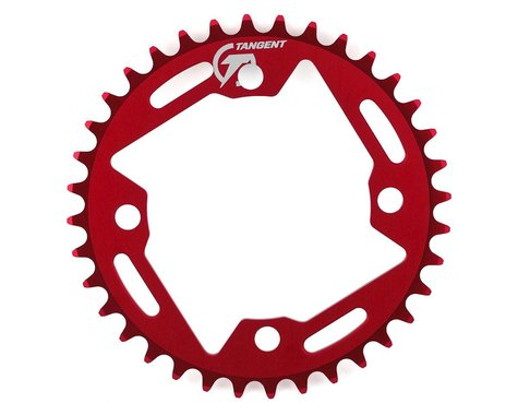 Tangent Halo 4-Bolt Chainring (Red) (36T)